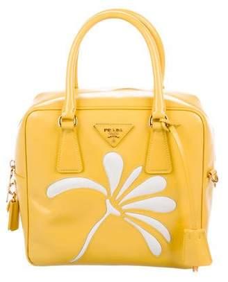 Prada Saffiano Vernice Flower Bag
