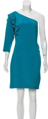 Diane von Furstenberg Silk-Blend One-Shoulder Mini Dress
