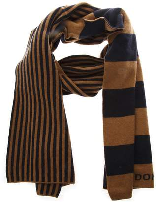 Dondup Bicolor Striped Scarf In Wool
