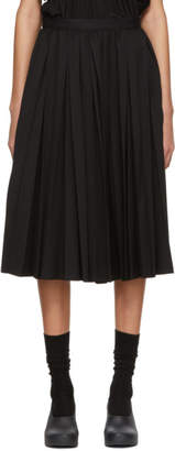 Comme des Garcons Black Wool Pleated Skirt