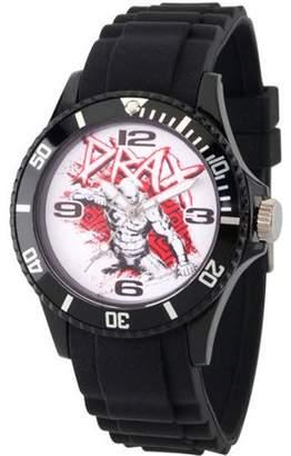 Marvel Guardians of the Galaxy Drax Unisex Black Plastic Watch, Black Bezel, Black Plastic Strap
