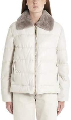 Brunello Cucinelli Fur Trim Down Jacket