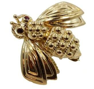 Tiffany & Co. 18K Yellow Gold & Ruby Bee Pin Brooch