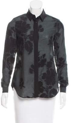 Burberry Wool-Blend Button-Up Top