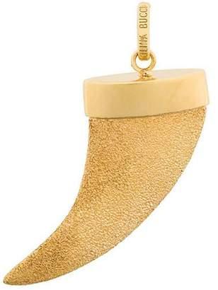 Carolina Bucci 18kt yellow gold Florentine Finish Corno pendant