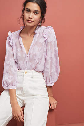 55c06c1d77cac at Anthropologie · Maeve Mallory Lace Blouse