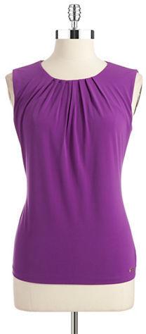 Calvin Klein Pintucked Sleeveless Top