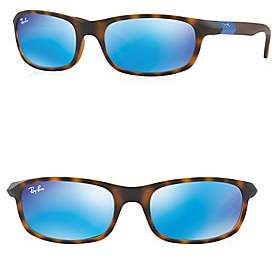 Ray-Ban Women's Junior Mirrored Rectangle Sunglasses