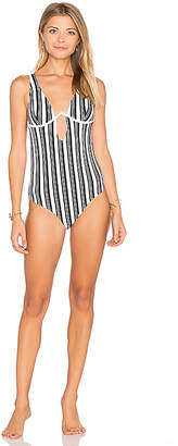 MinkPink Show Your Stripes One Piece Swimsuit