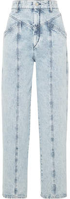 Isabel Marant Lenia High-rise Straight-leg Jeans - Light denim