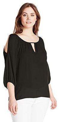 Single Dress Women's Plus Size Solid Cut Out Blouse $27.34 thestylecure.com
