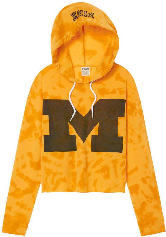 PINK University Of Michigan Drop Shoulder Pullover