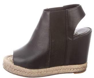 Balenciaga Leather Espadrille Wedges