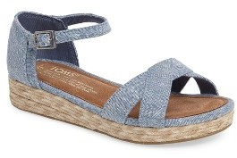 Girl's Toms Harper Wedge Sandal $58.95 thestylecure.com