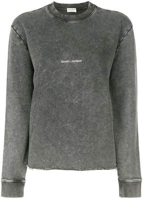 Saint Laurent washed logo sweatshirt