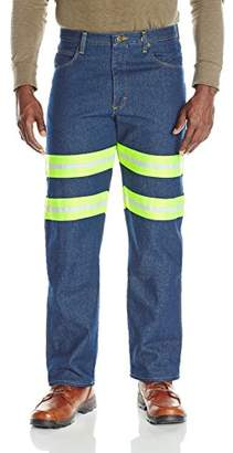 Red Kap Men's Enhanced Visibility Relaxed Fit Jean,40x34
