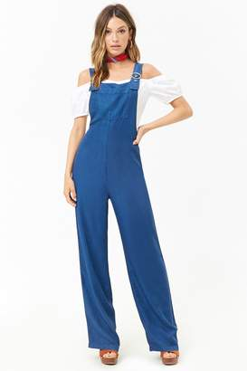 Forever 21 Chambray Wide-Leg Jumpsuit