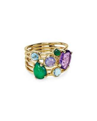 Ippolita 18k Gold Rock Candy Gelato 6-Stone Cluster Ring in Waterfall