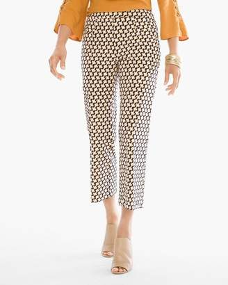 So Slimming Hexagon-Print Crops