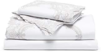 Pratesi Fontana Di Trevi Lace king size duvet set - White/Raw Linen