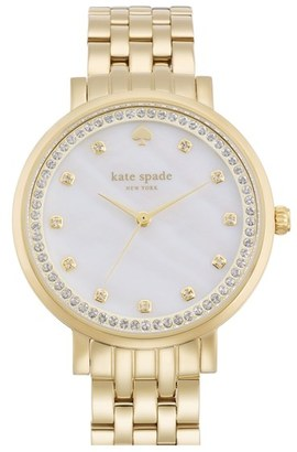 Women's Kate Spade New York 'Monterey' Crystal Dial Bracelet Watch, 38Mm $295 thestylecure.com