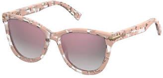 Marc Jacobs Mirrored Iridescent Cat-Eye Sunglasses, Pink Havana