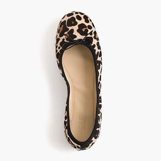 J.Crew Evie ballet flats in leopard print calf hair
