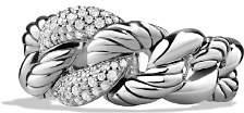 David Yurman Belmont Curb Link Ring with Diamonds