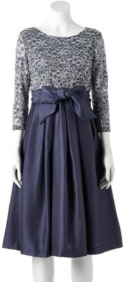 Women's Jessica Howard Lace Taffeta Fit & Flare Dress $150 thestylecure.com