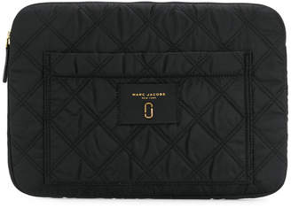 Marc Jacobs quilted logo laptop case