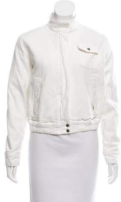 Blumarine Stand Collar Zip-Up Jacket