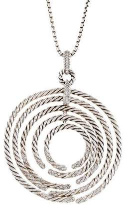 David Yurman Diamond Willow Pendant Necklace