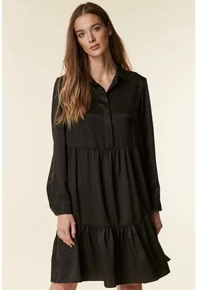Wallis - Black Tiered Shirt Dress