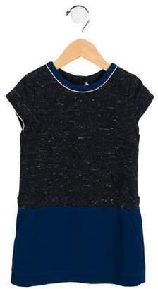Chloé Girls' Metallic-Trimmed Donegal Knit Dress w/ Tags