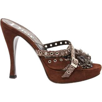 Christian Dior Brown Suede Sandals