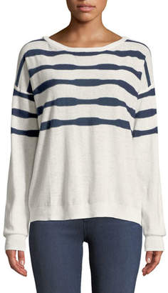 Splendid Las Olas Linen-Blend Pullover Sweater