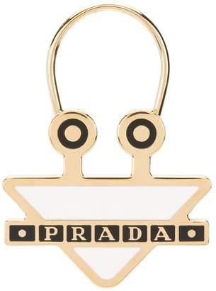 Prada logo keychains