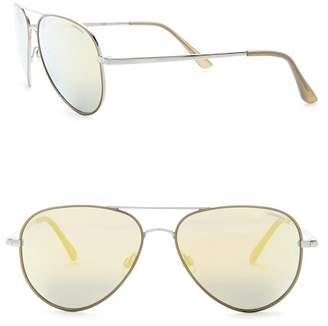 POLAROID EYEWEAR Women's Aviator 58mm Metal Frame Sunglasses