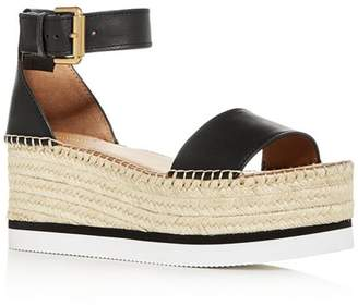 See by Chloe Women's Glyn Ankle-Strap Platform Wedge Sandals