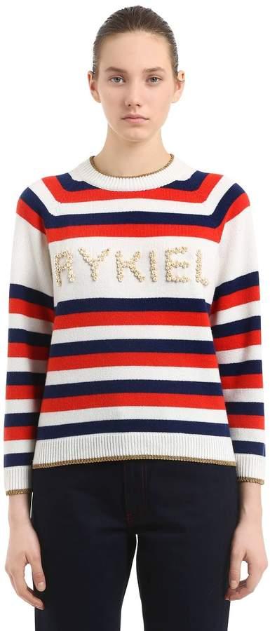 Pullover Aus Wollmischung Mit Verzierung