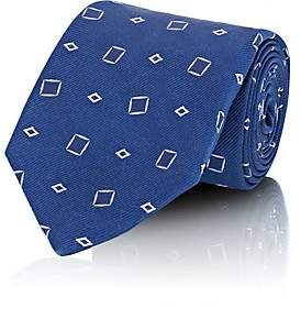 Fairfax MEN'S DIAMOND-JACQUARD SILK TWILL NECKTIE-BLUE