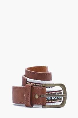 boohoo Aztec Woven Belt