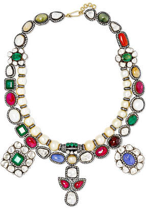 Amrapali 18-karat Gold And Sterling Silver Multi-stone Necklace - one size