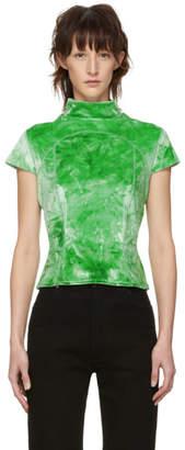 Eckhaus Latta Green Velvet Sport T-Shirt