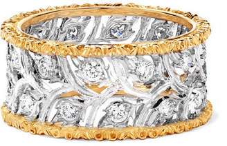 Buccellati Ramage Eternelle 18-karat White And Yellow Gold Diamond Ring