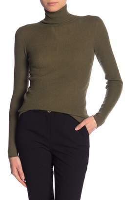 Vince Skinny Rib Cashmere Turtleneck Sweater