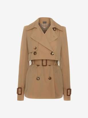 Alexander McQueen Short Trench Coat