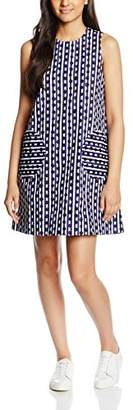 Peter Jensen Women's Circle Pocket A-Line Polka Dot Sleeveless Dress,(Manufacturer Size:Small)