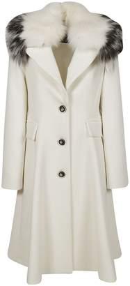 Ermanno Scervino Fox Fur Trimmed Coat
