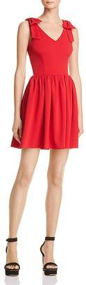 Aqua Bow Detail Fit-and-Flare Dress - 100% Exclusive